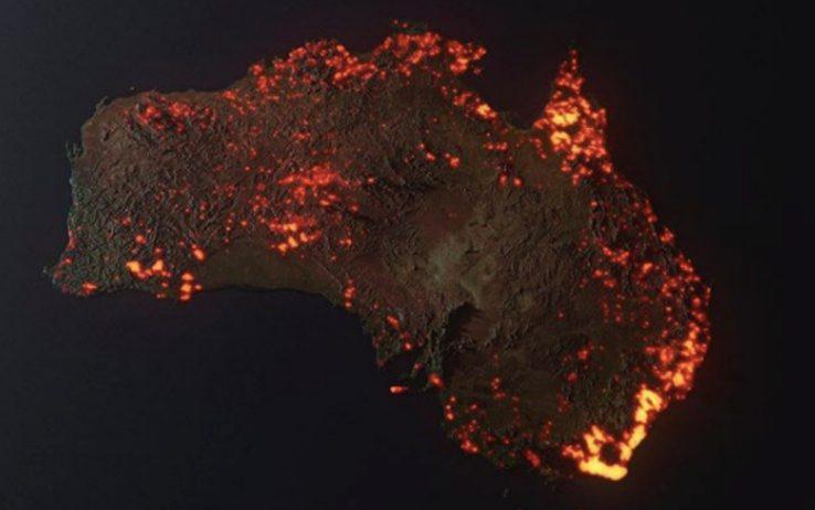 Incendi in Australia, immagine realizzata da Anthony Hearsey